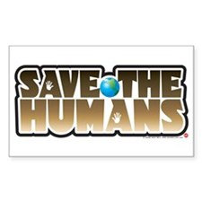 Save the Humans Rectangle Decal