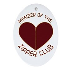 Zipper Club Oval Ornament