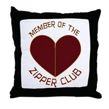 Zipper Club Throw Pillow