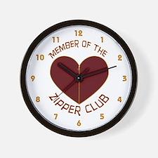Zipper Club Wall Clock