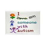I Am Someone with Autism Rectangle Magnet