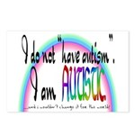 I Am Autistic Postcards (Package of 8)