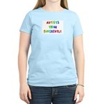 Autists Think Differently Women's Pink T-Shirt