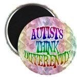 "Autists Think Differently 2.25"" Magnet (10 pack)"