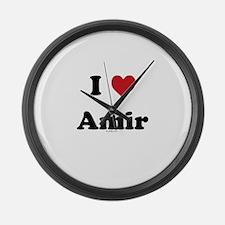 I love Amir Large Wall Clock