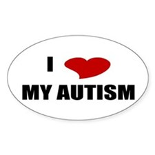 I Love My Autism Oval Decal
