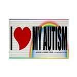 I Love My Autism Rectangle Magnet