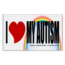 I Love My Autism Rectangle Decal
