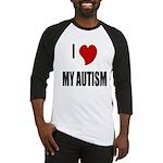 I Love My Autism Baseball Jersey