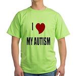 I Love My Autism Green T-Shirt