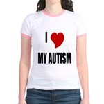 I Love My Autism Jr. Ringer T-Shirt
