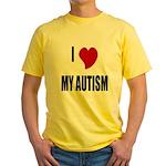 I Love My Autism Yellow T-Shirt