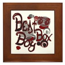 Beat Box Boy R Framed Tile