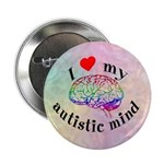 "I Heart My Autistic Mind 2.25"" Button (100 pack)"