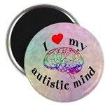 "I Heart My Autistic Mind 2.25"" Magnet (100 pack)"