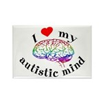 I Heart My Autistic Mind Rectangle Magnet
