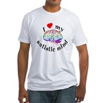 I Heart My Autistic Mind Fitted T-Shirt