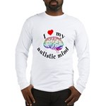 I Heart My Autistic Mind Long Sleeve T-Shirt