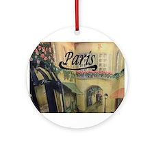 Paris Streets Ornament (Round)