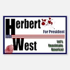 Herbert West reanimator president Decal