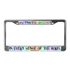 Autists Rock License Plate Frame