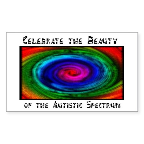 Celebrate the Beauty of the Autistic Spectrum Rectangle Stickers
