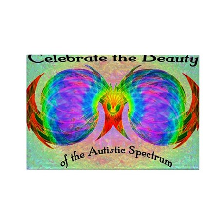 Celebrate Autistic Spectrum Rectangle Magnet