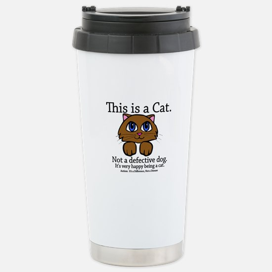 This is a Cat Stainless Steel Travel Mug