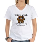This is a Cat Women's V-Neck T-Shirt
