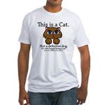 This is a Cat Fitted T-Shirt