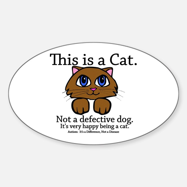 This is a Cat Oval Decal