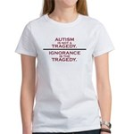 Autism is not a Tragedy Women's T-Shirt