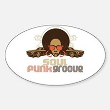 Soul Funk Groove Oval Decal