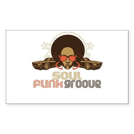 Soul Funk Groove Rectangle Sticker