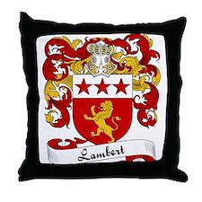 Lambert Family Crest Throw Pillow