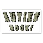 Auties Rock! Rectangle Sticker