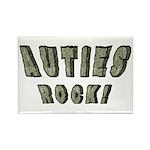 Auties Rock! Rectangle Magnet