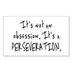 Perseveration Rectangle Sticker
