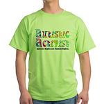 Autistic Activist v1 Green T-Shirt