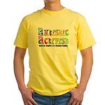 Autistic Activist v1 Yellow T-Shirt