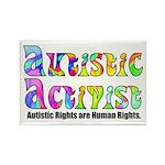 Autistic Activist v1 Rectangle Magnet
