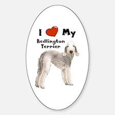 I Love My Bedlington Terrier Oval Decal