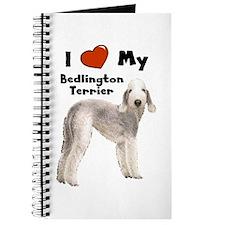 I Love My Bedlington Terrier Journal