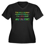 Normal Autistic Women's Plus Size V-Neck Dark T-Sh
