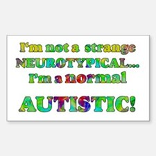 Normal Autistic Rectangle Decal
