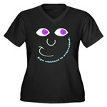 Eye Contact Women's Plus Size V-Neck Dark T-Shirt