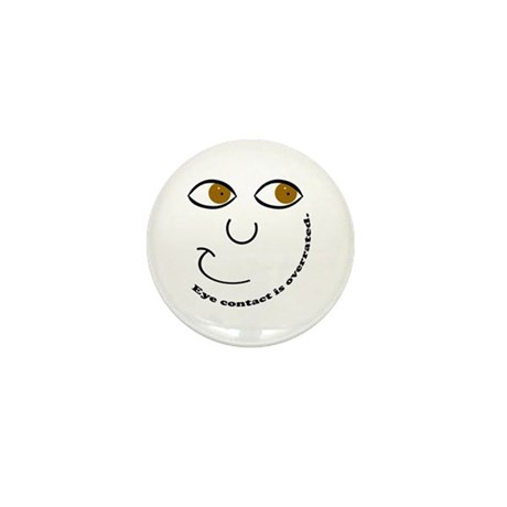 Eye Contact Mini Button