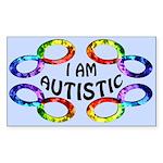 I Am Autistic Rectangle Sticker