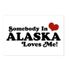 Somebody in Alaska Loves me Postcards (Package of