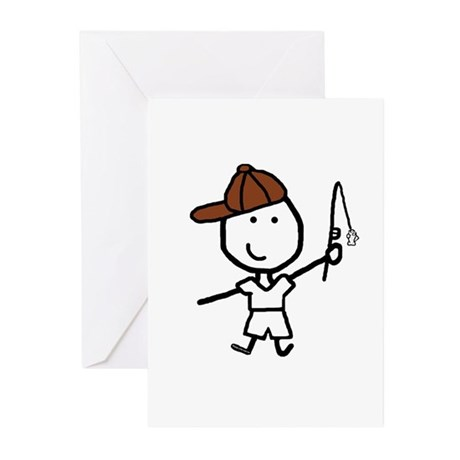 Boy & Fish Greeting Cards (Pk of 10)